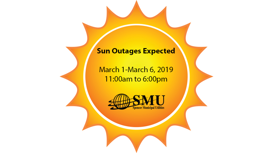 Sun Outages March 1-March 6, 2019