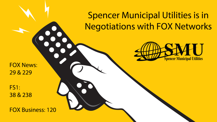 Spencer Municipal Utilities is in Negotiations with FOX Networks