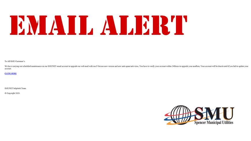 SMU Webmail Scam Alert