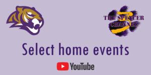 Spencer Tiger and SMU logo 'Select Home Events' YouTube link